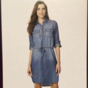 Gloria Vanderbilt Denim Shirt Dress NWT Large
